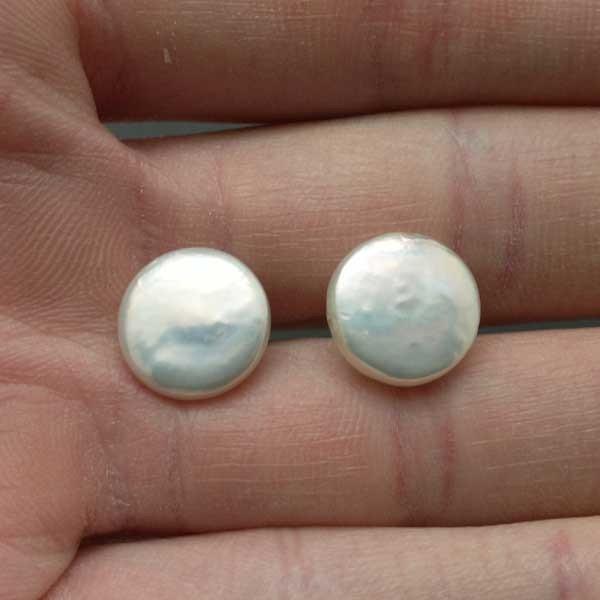 Pendiente perla Coin