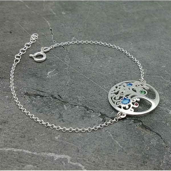 Tree of life bracelet in silver and enamel on fire