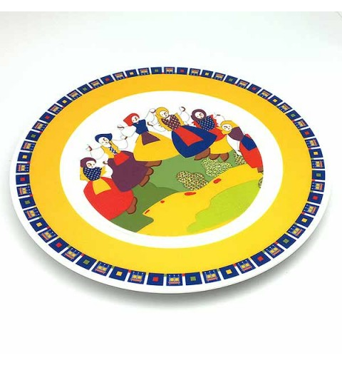 Plato decorativo, representando la danza gallega.