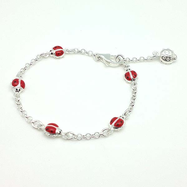 Ladybugs bracelet girl