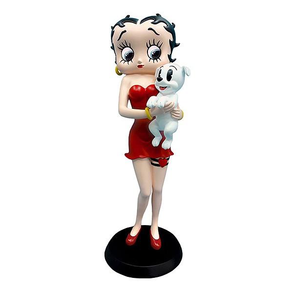 Betty Boop sosteniendo a Pudgy