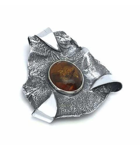 Handmade amber pendant