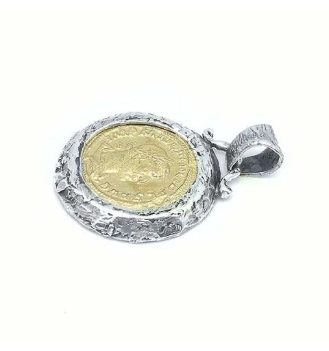 Roman sestercio pendant