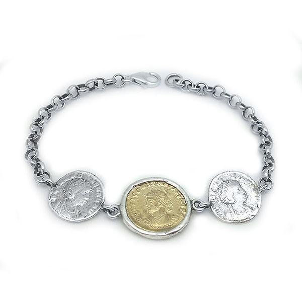 Pulsera con monedas romanas