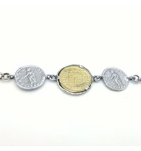 Bracelet with Roman coins