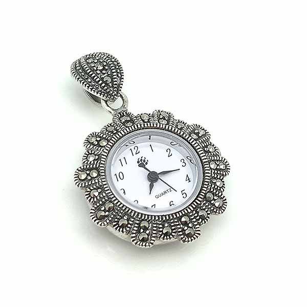Sterling silver pendant watch
