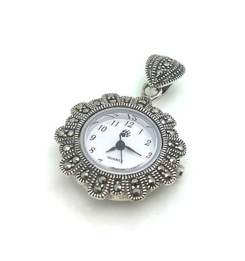 Sterling silver pendant watch