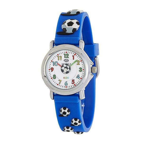 Reloj para niño de color azul y adornado con balones de fútbol, de la marca Marea.