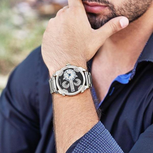 Steel watch for men, diesel type. Marea brand.
