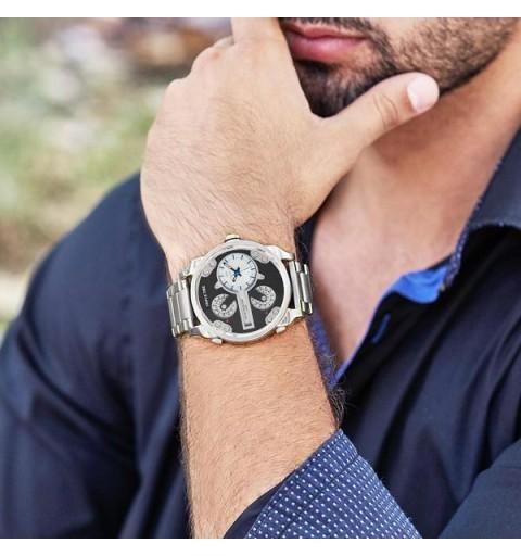 Reloj acero para hombre, tipo diesel. Marca Marea.