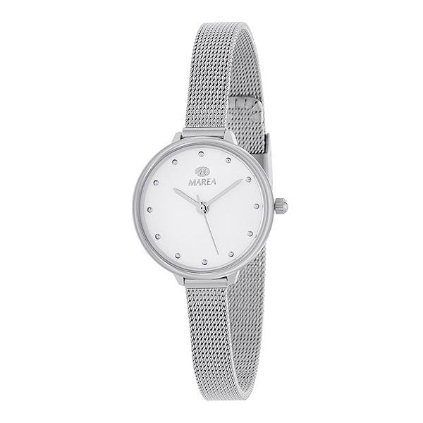 Reloj para señora, con malla milanesa.