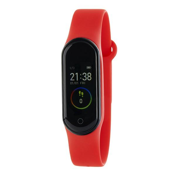 Simple activity bracelet, red, Marea brand.