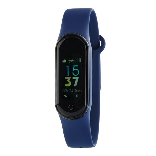 Simple activity bracelet, blue, Marea brand.