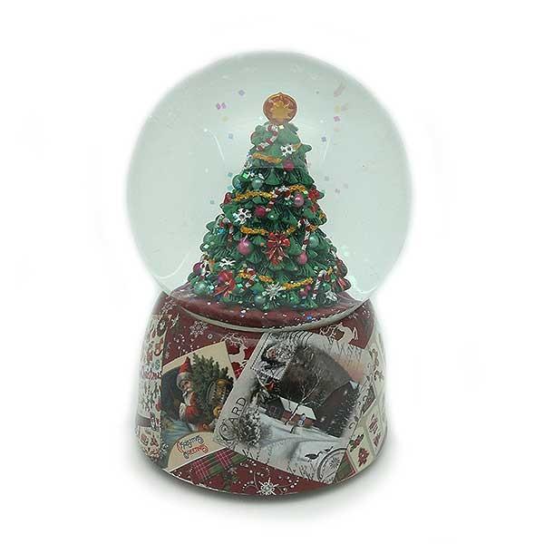 Bola de nieve árbol de navidad