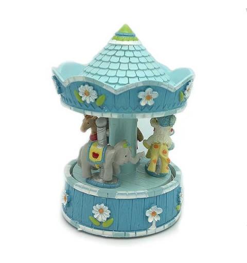 Carrusel infantil azul