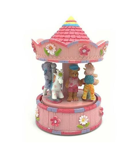Carrusel infantil rosa