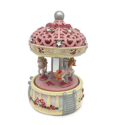 Pink musical carousel.