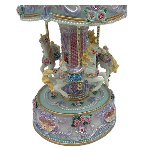 Musical carousel in shades of pink and violet