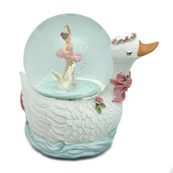Snowball, swan shaped