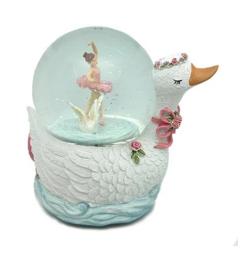 Bola de nieve con forma de cisne