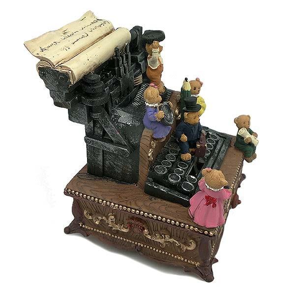 Typewriter shaped music box.