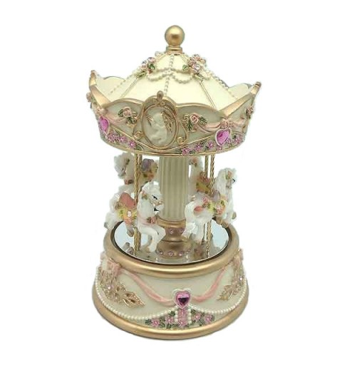 Beige and pink tones musical carousel