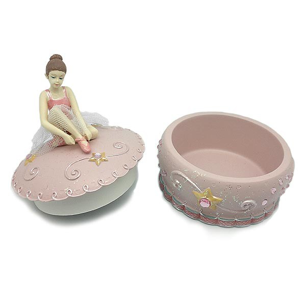 Pink music box, with dancer.