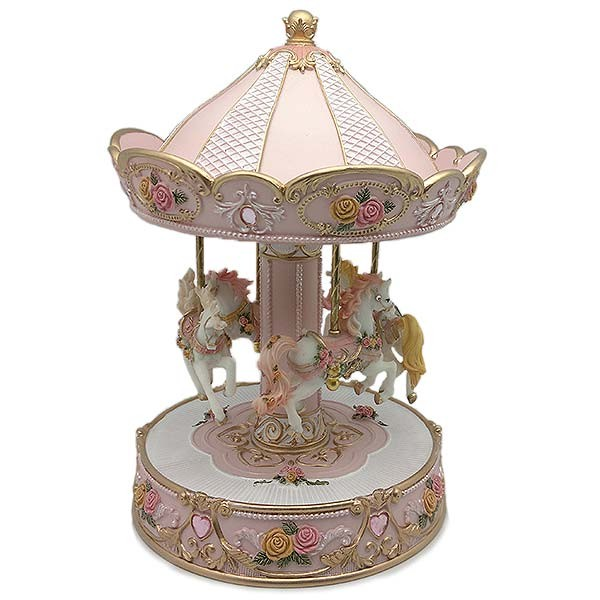 Musical carousel in pink tones
