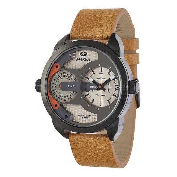 Reloj para hombre, en tonos camel, de la marca Marea.