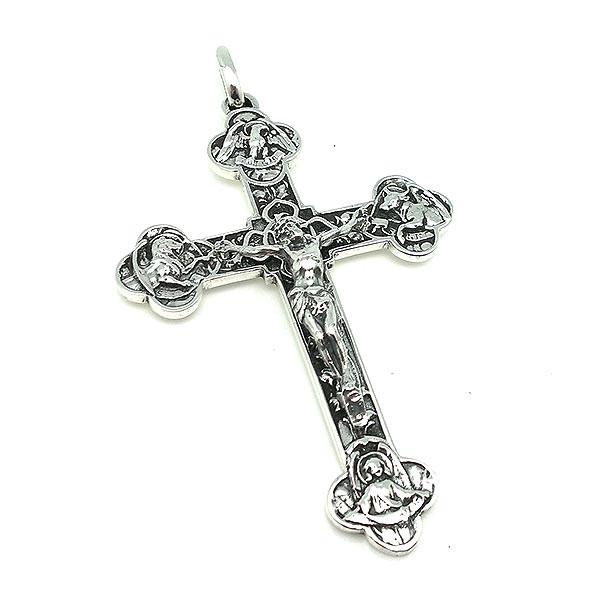 Cross pendant, in sterling silver