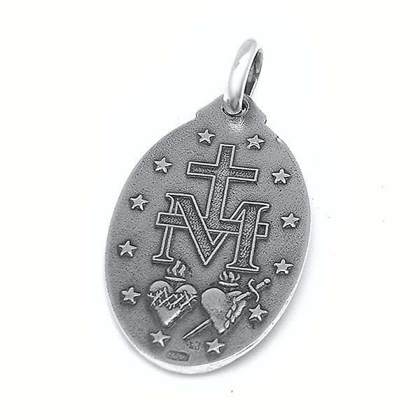 Miraculous virgin medal, in silver.