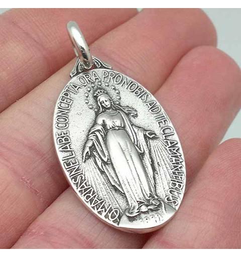 Miraculous virgin medal, in silver.