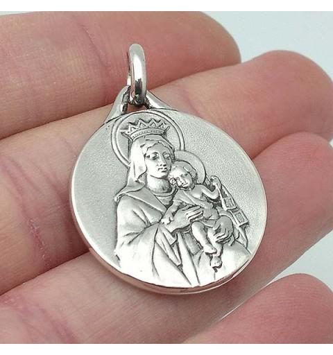 Medalla escapulario, en plata de ley.