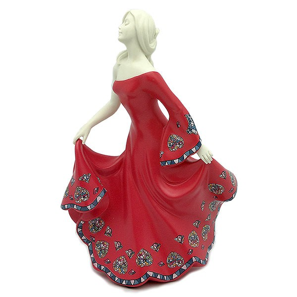 Swirl figure, in red, by Nadal Studio.