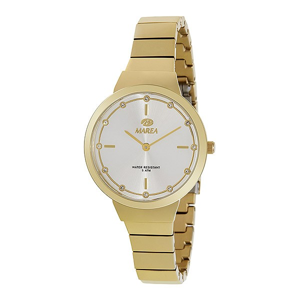 Reloj para señora dorado, tipo clásico.