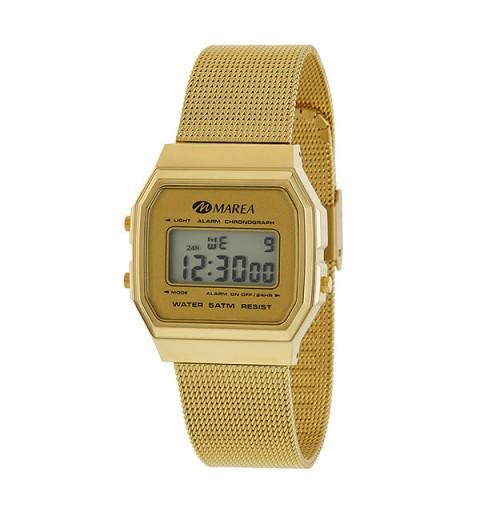 Reloj Marea mujer dorado, tipo Casio.