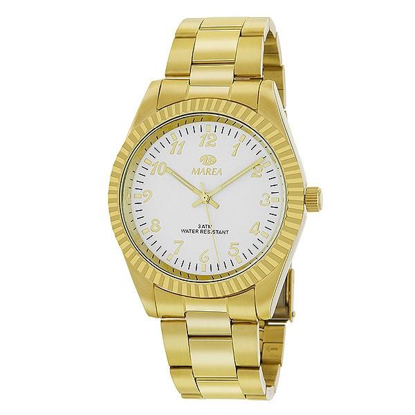 Reloj caballero clásico, en dorado.