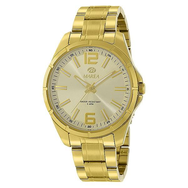 Reloj dorado para caballero, de la marca Marea.
