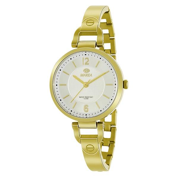 Reloj para chica o mujer, en tono dorado.
