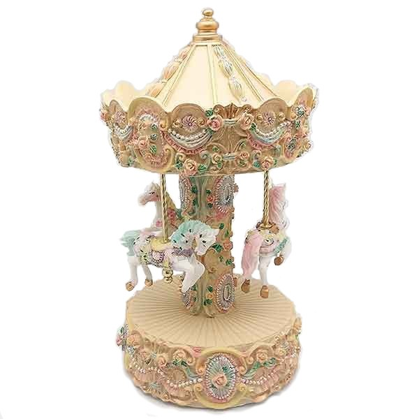 Carousel with little horses