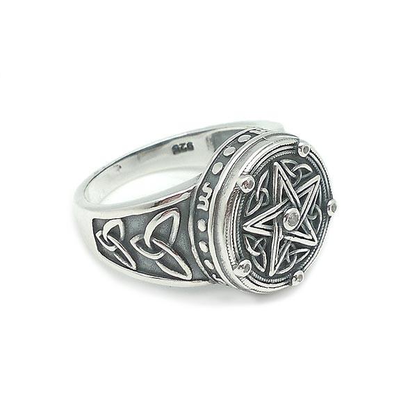 Silver ring, tetragramton.
