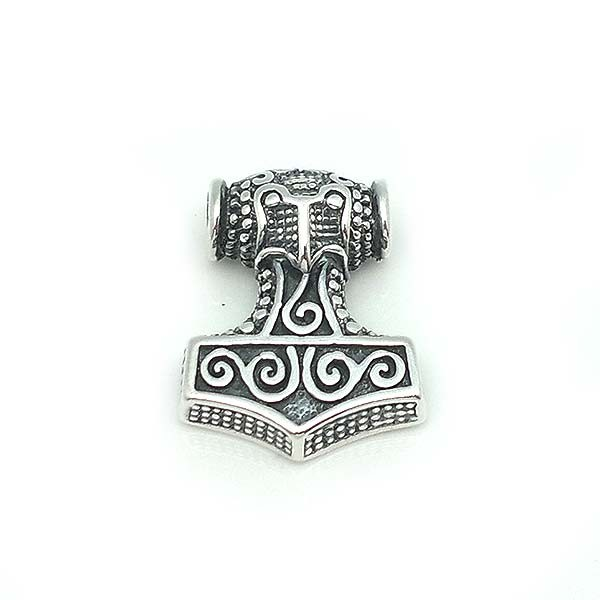 Thor's hammer pendant in sterling silver.