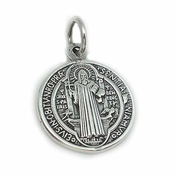 Saint Benedict medal, silver