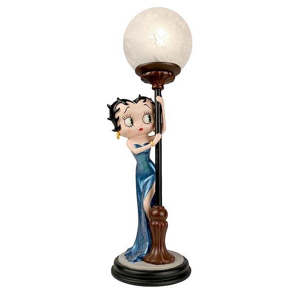 Betty Boop lámpara, vestido azul.