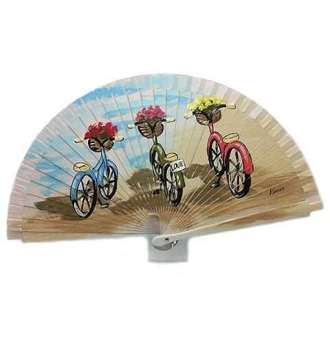 Abanico, tres bicicletas.
