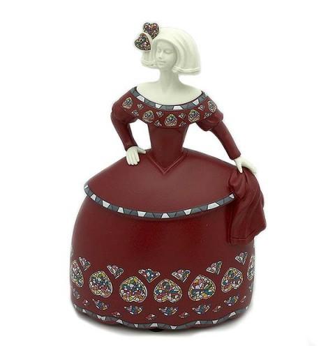 Menina small red dress.