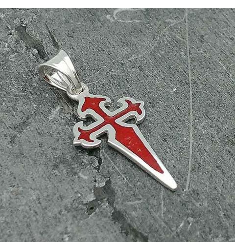 Small Cross of Santiago pendant.