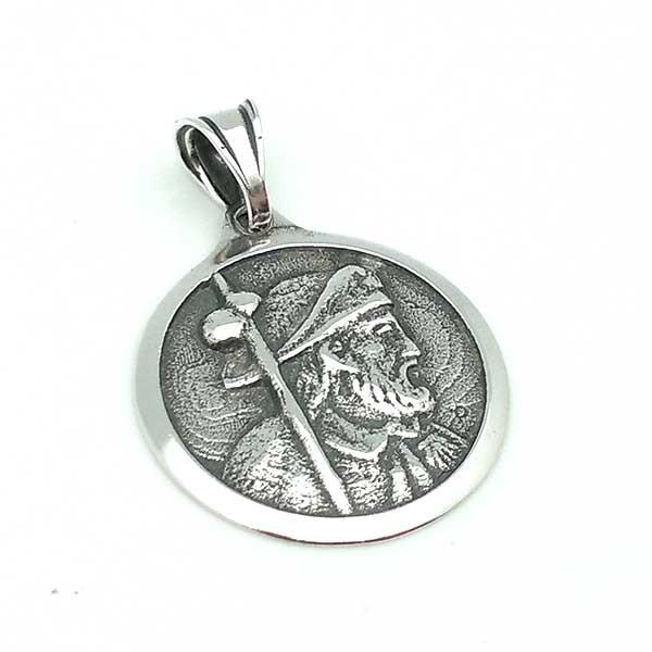 Santiago Apóstol pendant, in sterling silver.