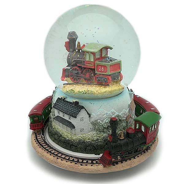 Bola de nieve, con tren.