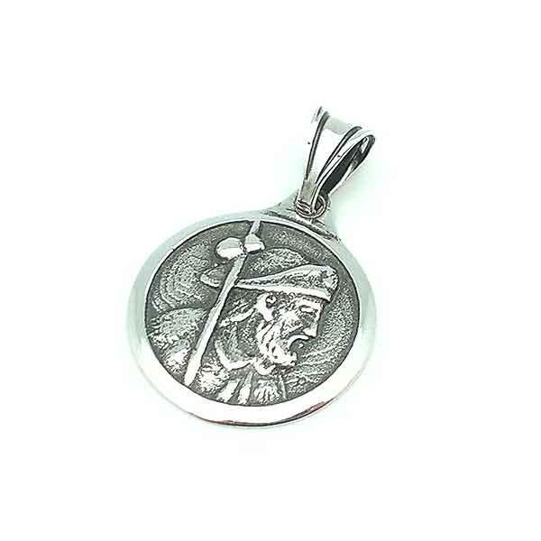 Santiago Apóstol medal, in sterling silver.